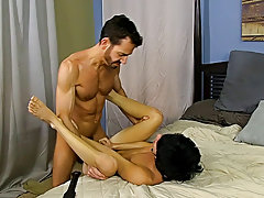 Black men jack and cum on each other dicks and dicks in satin panties at Bang Me Sugar Daddy