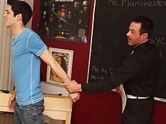 Hardcore office sex with male wearing suit and hot gay ass hardcore at Teach Twinks