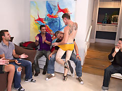 Free movies of hot gay groups having sex and gay group sex parties at Sausage Party
