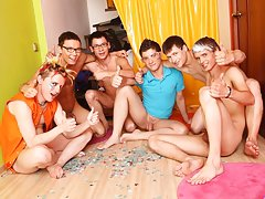Gay group masturbation and group masturbation male at Crazy Party Boys