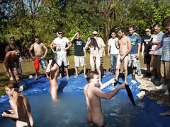 as torture for losing those unfortunate pledges had to suck each their off in front of their brothers and fellow pledges gay group shower