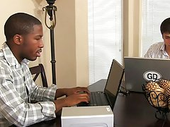 Black gay porn blowjob images and cute light skin boy jerking off at My Gay Boss