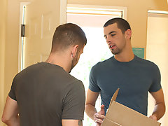 Ever the affable neighbor, Jake returns the package to Preston and is pleased to suggest up the real thing gay men hardcore anal sex at My Husband Is