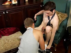 Older man that wants to be fucked by a younger man and white teen runs from long black dick at My Gay Boss