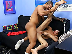 He face-fucks the petite chap with his uncut dick and eats his ass, but that's just the warm up hardcore male masterbation at Bang Me Sugar Daddy