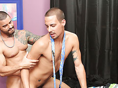 Fat man naked in forest and close up big dick gay fuck at My Gay Boss