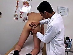 I explained to him we get to examine his genitals so I took my hand and place it at this chab base of his semi-hard penis...I felt and palpated the sh