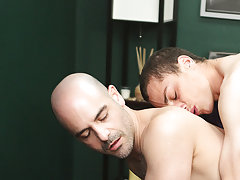 Man with big feet fucking bareback with cum and daddy gay exchange his boxer at I'm Your Boy Toy