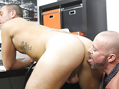 Videos of gay men dicks sticking up in their pants and fucking hot pussy with hot muscle men at My Gay Boss