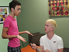 Dustin sucks Jordan first, previous to this chab returns the favor, also eating the Latino boy's petite ass twink gay anal sex