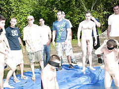 as torture for losing these unfortunate pledges had to engulf each their off in front of their brothers and boy-friend pledges gay porn group ass fuck