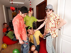 Gay group suck and nude gay male groups at Crazy Party Boys