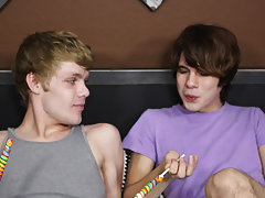 Jacking off emo teen and cute boys dick