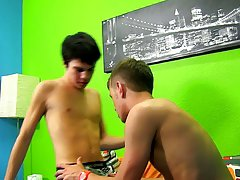 Shiny nylon twink and gay twink blow job priest at Boy Crush!