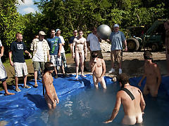 There is nothing like a fine summer time splash, especially when the pool is fellow made and ghetto rigged as fuck group gay and lesbians fuck