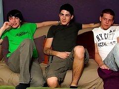 Self suck twinks and teen boys eat their cum from a glass - Jizz Addiction!