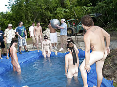 There is nothing like a valuable summer time splash, especially when the pool is chap made and ghetto rigged as fuck gay toons group sex