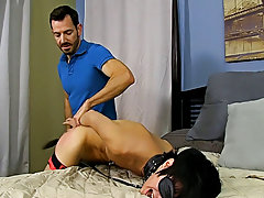 He paddles the fastened boy until his arse is red previous to freeing him from some of the restraints so that guy can feed him his cock hardcore manga