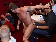 Group sex gay guys and group male masterbation at Sausage Party
