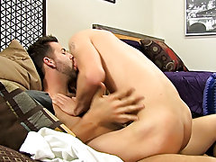 After Jordan rides it, Preston copulates the cum without him in missionary previous to giving him a creamy facial