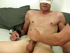 We are changing things up with him today and are going to not solely jerk him off, but tie him up a bit and tease him