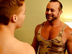 Naked gay belly daddy twink massage and black muscle butts in underwear at Bang Me Sugar Daddy