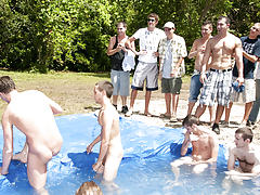 There is nothing like a nice summer time splash, especially when the pool is man made and ghetto rigged as fuck guys nude groups