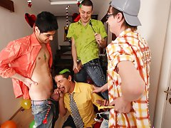 Naked male celeb groups and gay jocks videos big cock group free at Crazy Party Boys