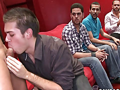 Cute twinks cum in friend month and twinks for black master at Sausage Party
