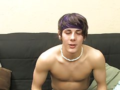 Gay emo twink squeals and tanned man teaching twink to wrestle at Boy Crush!