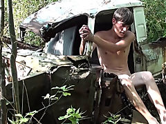 Bound and Waxed Friend outdoor gay sex montere