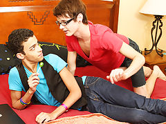 He teaches him a thing or two before Dustin cums while riding him gay xxx orgy twinks