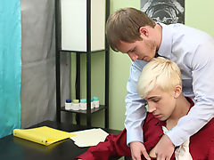 Tyler turns him over and shoots his cum on his back twinks fucking old men at My Gay Boss