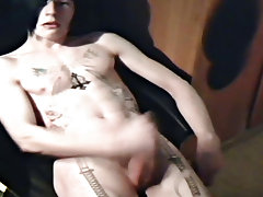 Hot emo chap Josh Osbourne jerks off on his bedroom floor, showing off his hot body, large weenie and epic tattoos naked bulgarian boy - rocker boy fr