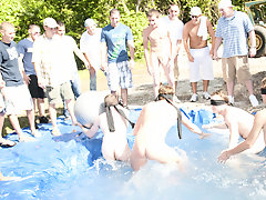 There is nothing like a nice summer dated splash, especially when the pool is manservant made and ghetto rigged as fuck men masturbating in group