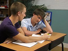 They absorb with a passionate  and that gets the juices flowing to all the right places my first gay blowjob at Teach Twinks