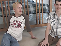 We got Chris and Seth together in a bedroom and the gibe began gay his first anal at Broke College Boys!
