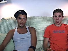 The two boys sat there on the vis-Å-vis starting to deftness themselves with their underwear on asian gay interracial