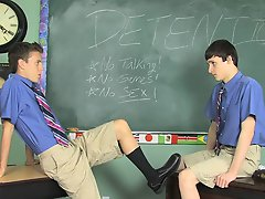 Dustin decides he'll do his best to rectify unproductive Damien nervous but Damien is up for the challenge nude gay twinks dirst time at Teach Tw
