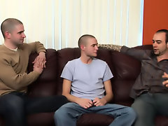 Ashton has come for an interview and shows he is longing for the job sooner than getting down on the boss's monumental cocks gay twink big cock s