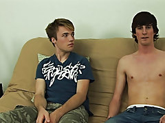 Sitting on the futon, Daniel and Jase grabbed their soft cocks and started jerking off to the straight porn that was playing pri gay blowjob
