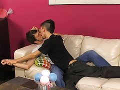 Alex does a good job of it first time gay anal porn t