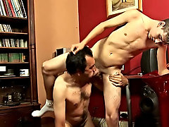 And what ball licking did the old guy gave the twink, oh old egg first time sex gay