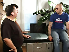Antonio was more than willing to pay the price and stretched his tight gay cell for a negotiation he won't think of sexy gay porn hunks