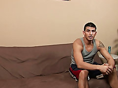 Completely naked, Zach turned around and showed off his tight ass cheeks to the camera before sitting down gay bear blowjob