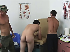 Both of us just finished sucking off David's hot cock after spewing our own cum onto his face and body male group masterbation
