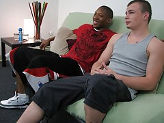 Jamal kept his eyes closed but started getting into it by thrusting gently into Nathan's mouth big gay interracial sex