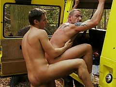 After plenty of suggestive voiced action, these guys take it in turns to fuck each other on and on all sides Darren's Jeep before cumming all thr