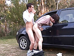 Erick and Julian make it first time gay sex outdoor at Julian 18