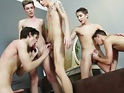 Two cute young twinks wanking and twinks wearing socks in sex at Staxus